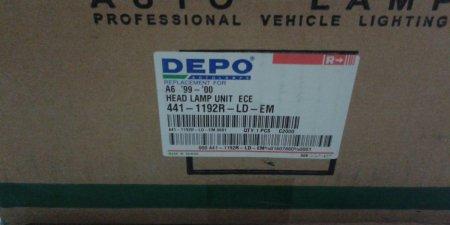 Predný svetlomet  pravý   AUDI A6  441-1192R-LD-EM H7/H1 2